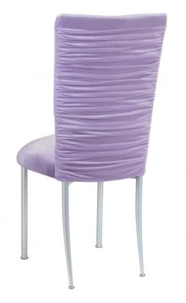 Chloe Lavender Velvet Chair Cover and Cushion on Silver Legs (1)