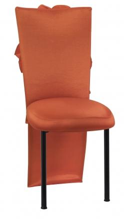 Orange Taffeta Jacket with Flowers and Boxed Cushion on Black Legs (2)