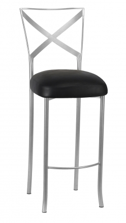 Simply X Barstool with Black Leatherette Boxed Cushion (2)