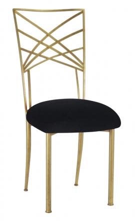 Gold Fanfare with Black Velvet Cushion (2)