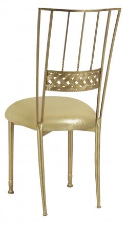 Gold Bella Braid with Metallic Gold Stretch Knit Cushion (1)