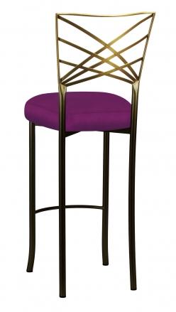 Two Tone Fanfare Barstool with Orchid Taffeta Boxed Cushion (1)