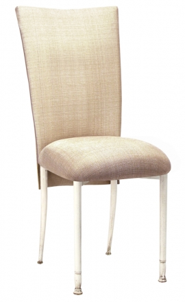Parchment Linette Chair Cover and Cushion on Ivory Legs (2)