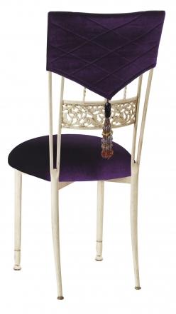 Eggplant Velvet Hat and Tassel with Cushion on Ivory Bella Fleur (1)