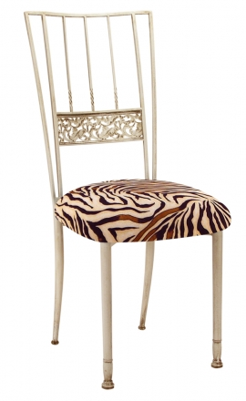 Ivory Bella Fleur with Zebra Stretch Knit Cushion (2)