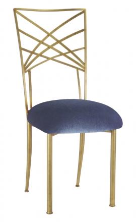 Gold Fanfare with Steel Velvet Cushion (2)