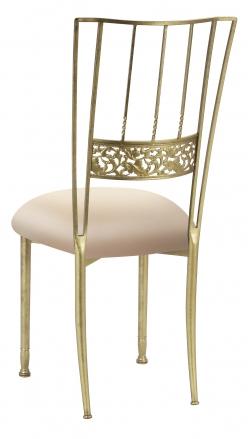 Gold Bella Fleur with Buttercream Stretch Knit Cushion (1)