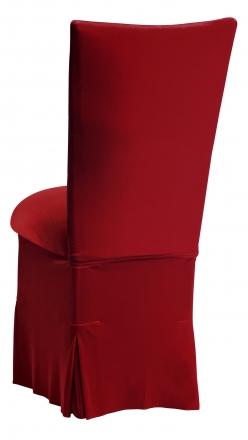 Red Velvet Chair Cover, Cushion and Skirt (1)