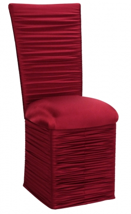 Chloe Cranberry Stretch Knit Chair Cover and Cushion and Skirt (2)