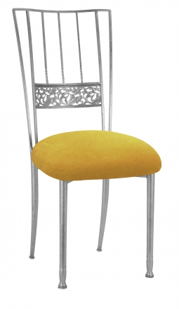 Silver Bella Fleur with Canary Suede Cushion (2)