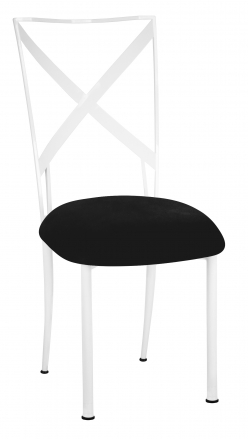 Simply X White with Black Suede Cushion (2)
