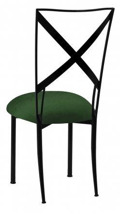 Blak. with Green Velvet Cushion (1)