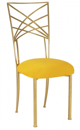 Gold Fanfare with Canary Suede Cushion (2)