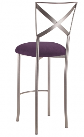 Simply X Barstool with Lilac Suede Cushion (1)