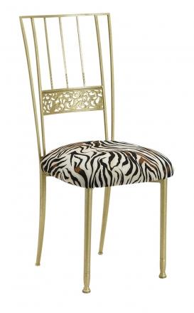 Gold Bella Fleur with Zebra Stretch Knit Cushion (2)