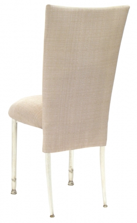 Parchment Linette Chair Cover and Cushion on Ivory Legs (1)