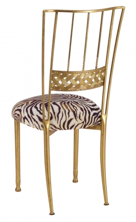 Gold Bella Braid with Zebra Stretch Knit Cushion (1)
