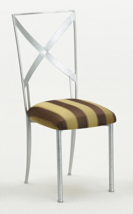 Simply X with Gold and Brown Stripe Cushion (2)