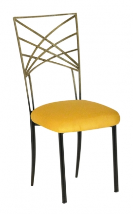 Two Tone Gold Fanfare with Canary Suede Cushion (2)