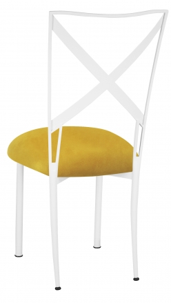 Simply X White with Canary Suede Cushion (1)