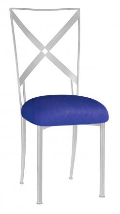 Simply X with Royal Blue Stretch Knit Cushion (2)