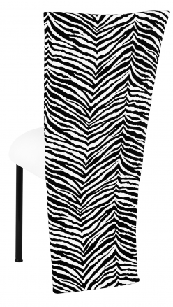 Black and White Zebra Jacket with White Suede Cushion on Black Legs (1)