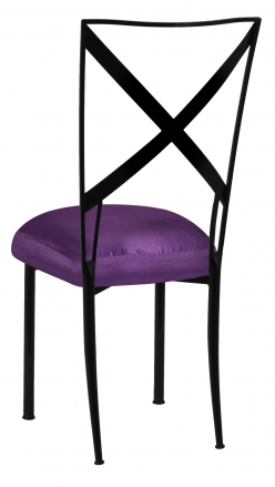 Blak. with Purple Taffeta Boxed Cushion (1)
