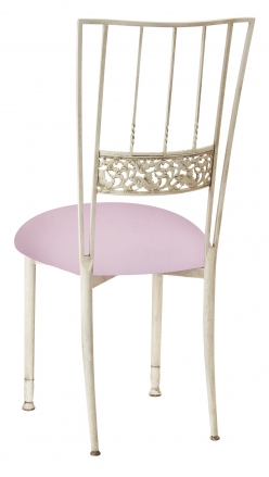 Ivory Bella Fleur with Soft Pink Velvet Cushion (1)