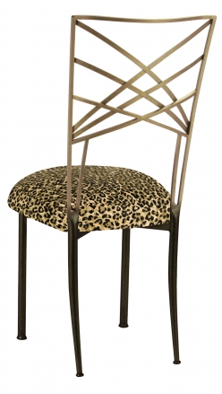 Two Tone Fanfare with Leopard Boxed Cushion (1)
