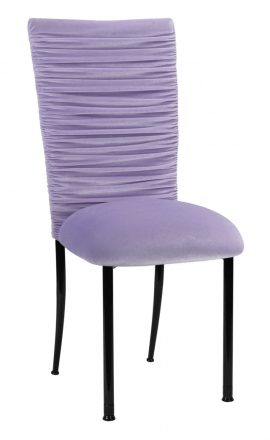 Chloe Lavender Chair Cover and Cushion on Black Legs (2)