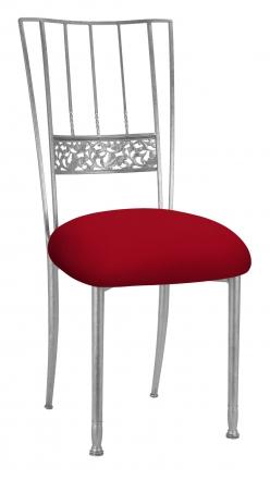 Silver Bella Fleur with Red Stretch Knit Cushion (2)