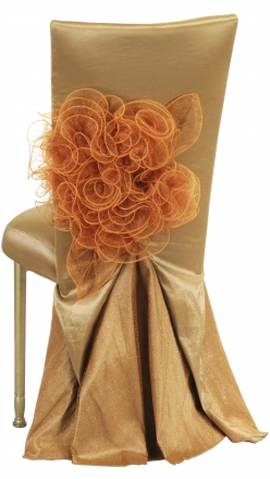 Gold Taffeta BET Dress with Boxed Cushion on Gold Legs (1)
