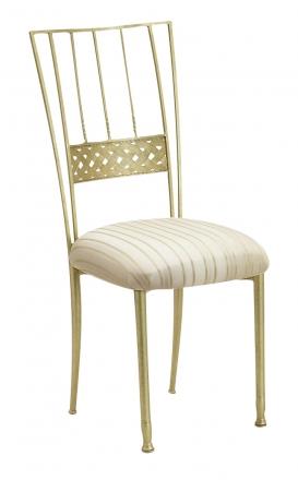 Gold Bella Braid with Ivory Sateen Stripe Cushion (2)