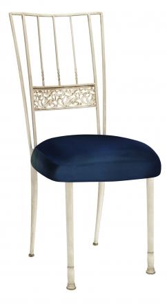 Ivory Bella Fleur with Midnight Blue Taffeta Boxed Cushion (2)