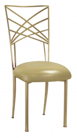 Gold Fanfare with Metallic Gold Stretch Knit Cushion (2)