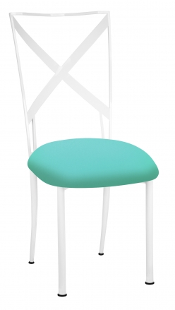 Simply X White with Aqua Stretch Knit Cushion (2)