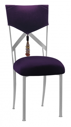 Eggplant Velvet Hat and Tassel Chair Cover with Cushion on Simply X (2)