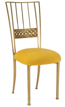 Gold Bella Braid with Canary Suede Cushion (2)