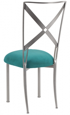 Simply X with Turquoise Suede Cushion (1)