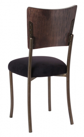 Wood Back Top with Black Suede Cushion on Brown Legs (1)
