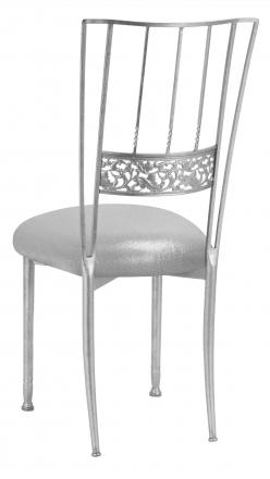 Silver Bella Fleur with Metallic Silver Stretch Knit Cushion (1)