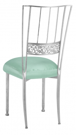 Silver Bella Fleur with Tropical Teal Boxed Cushion (1)