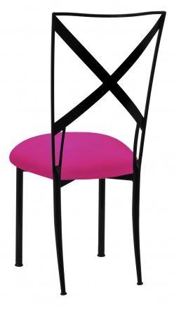 Blak. with Hot Pink Stretch Knit Cushion (1)