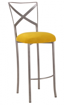 Simply X Barstool with Canary Suede Cushion (2)