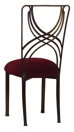 Bronze La Corde with Cranberry Velvet Cushion (1)