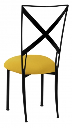 Blak. with Bright Yellow Stretch Knit Cushion (1)
