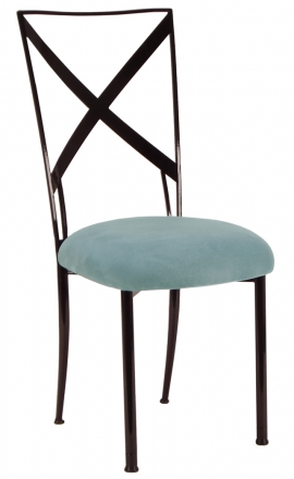 Blak. with Ice Blue Suede Cushion (2)