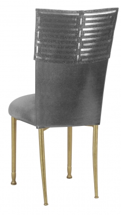 Head Dress with Gunmetal Stretch Knit Cushion on Gold Legs (1)