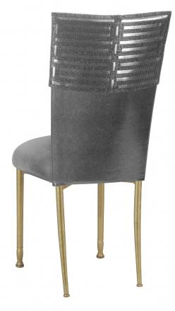 Head Dress with Gunmetal Stretch Knit Cushion on Gold Legs (1)