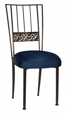 Mahogany Bella Fleur with Midnight Blue Taffeta Boxed Cushion (2)